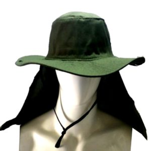 CHAPEU COM PROTETOR DE NUCA A ORELHA – VERDE OLIVA