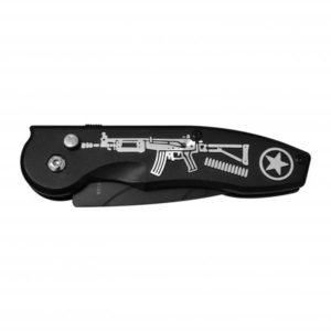 Canivete Automático Fuzil – Cromado Preto – LUA TEK – SLK 137