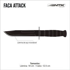 FACA ATTACK – NTK – TÁTICA – PESCA – CAÇA