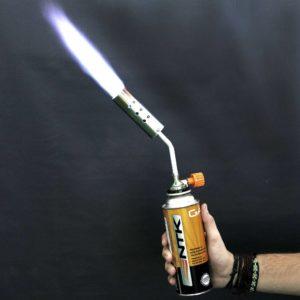 Maçarico Maxtop portátil NTK com controle de intensidade de chama.