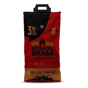 Carvão Blend Padrão Bom de Brasa Reflorestamento 3 kg