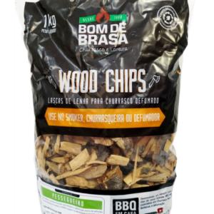 Wood Chips – Lascas para Defumação Bom de Brasa – Pessegueiro 1 kg.