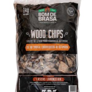 Wood Chips – Lascas para Defumação Bom de Brasa – Laranjeira 1 kg.