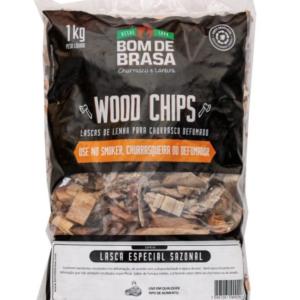 Wood Chips – Lascas para Defumação Bom de Brasa – Blend (sazonal) 1 kg.