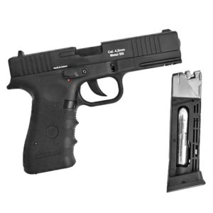 PISTOLA DE PRESSÃO A GÁS GBB CO2 W119 SLIDE METAL 4.5MM C/ BLOWBACK – WINGUN