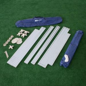 Gazebo desmontável NTK de 3m x 3m com estrutura de tubos de aço esmaltado e cobertura aluminizada Fiesta